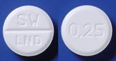ブロチゾラムOD錠0.25mg「サワイ」