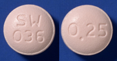 エチゾラム錠0.25mg「SW」