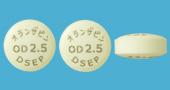 オランザピンOD錠2.5mg「DSEP」